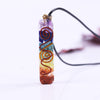 Image of Orgone Chakra Healing Pendant with Adjustable Cord – 7 Chakra Stones Necklace for EMF Protection and Spiritual Healing