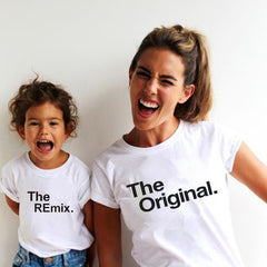 The Original Remix Family Matching Family Look Father Son Clothes Father's Day Gift Outfits Daddy Mom Kids T-shirt Baby Bodysuit