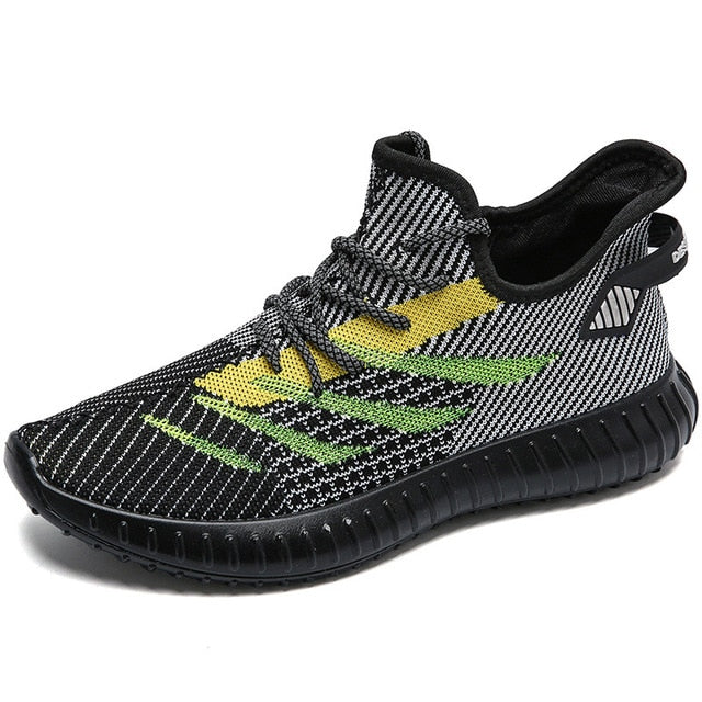 2019 new coconut shoes male angel reflective flying woven shoes men's breathable casual sports shoes men