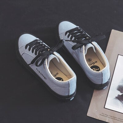 Girl Pink Shoes Low Upper Lacing 2020 Spring New Chic Sneakers Skateboard Shoes Trainers Light Blue Mixed Color 35-40 Footwear