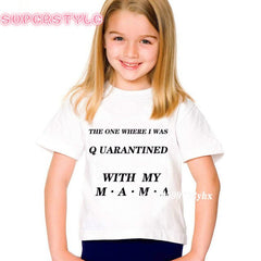 Mother and Daughter Vogue Sumemer Clothes Quarantined Mother's Day T-shirts 2020 Mother's Day Gift Mother Daughter Son Tops