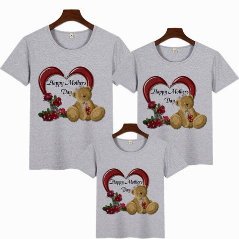 Mother plot love print family matching clothes T-shirt mom and me clothes happy mother's day TShirt 2020 mother's day gift shirt