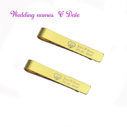 Personalized tie clips for men 1pc custom free with your wish text or name best personalized birthday gift for father