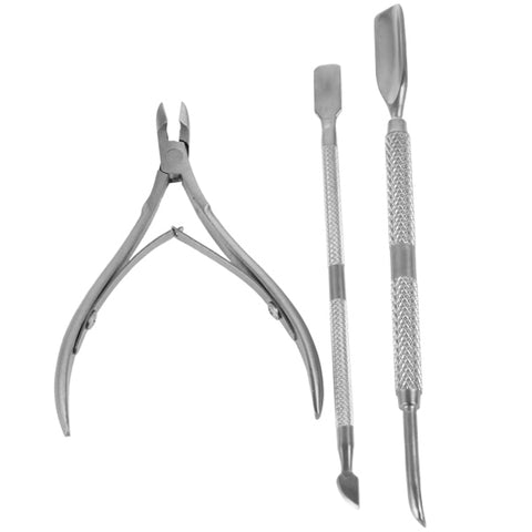 Stainless Steel cuticle Scissors and Cuticle Pusher Kit