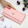 Image of New Fashion High Capacity Women Wallets Metal Crown