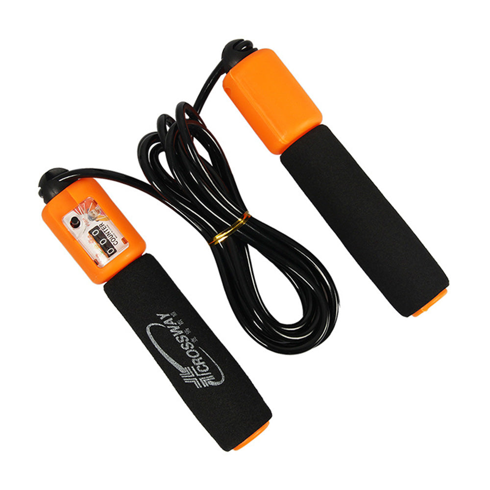 New Jump Ropes With Counter Sports Fitness Crossfit Adjustable Fast Speed Counting Jump Skip Rope Skipping Wire Calories