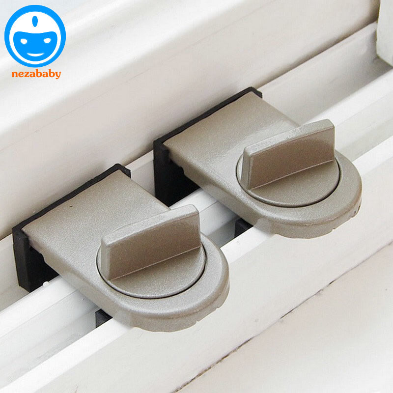 Move Window Child Safety Lock Sliding Windows Lock Kids Cabinet Locks Sliding Door Stopper Security Sliding Sash Stopper FH15