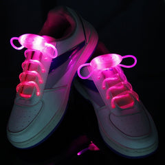 1 Pair Fashion LED Luminous Shoelaces Flash Party Glowing Strings Athletic Sport Sneakers Flat Shoes Laces for Boys Girls hot
