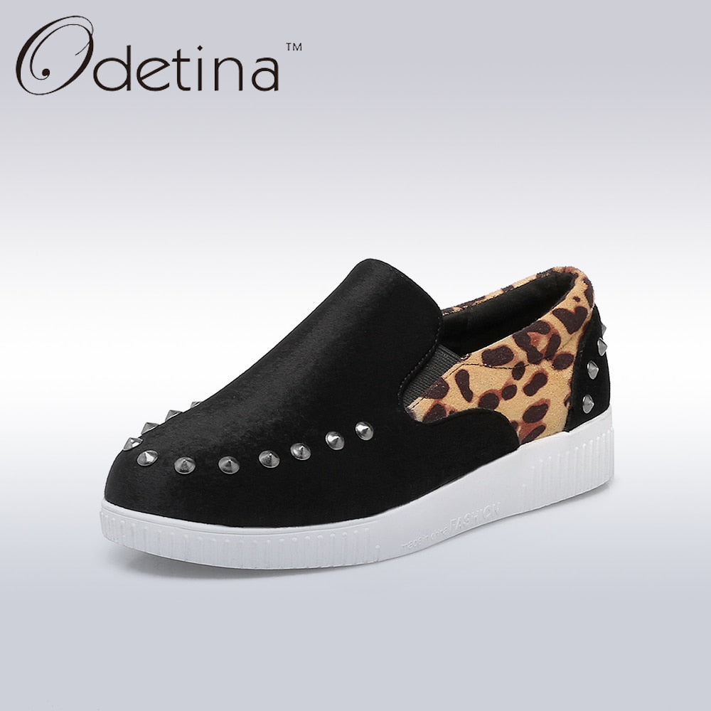 Women's Leopard Print Patchwork Casual Shoes
