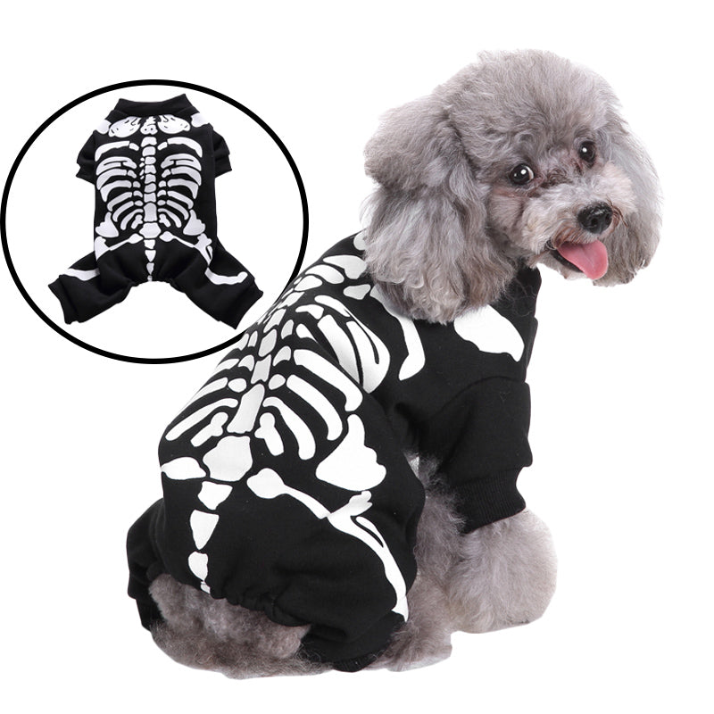 Pet Skull Skeleton Sweater Cosplay Costumes for Halloween Christmas