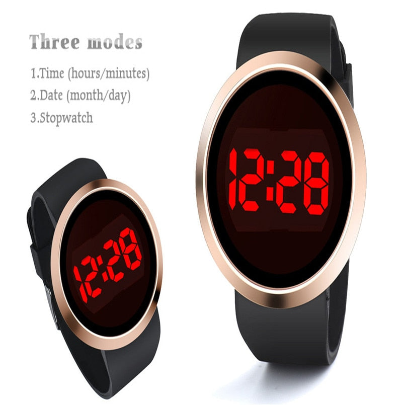 New Fashion Watches Waterproof LED Touch Screen