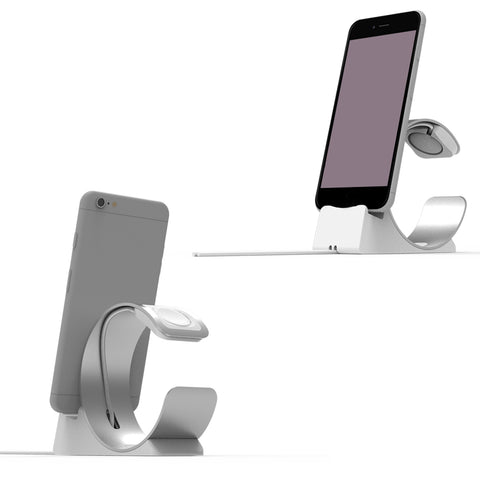 Besegad Charging Station Stand Holder Bracket Cradle for iPad iPhone 8 X 7 6S Plus Apple Watch iWatch Series 1 2 3 4 Accessory