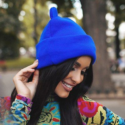Women Cat Ear Cute Crochet Braided Knit Beanie
