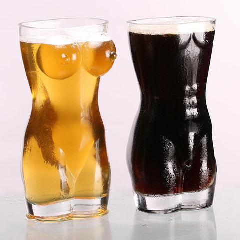 Sexy Lady and Men Durable Double Wall Large Whiskey Glasses 700ml