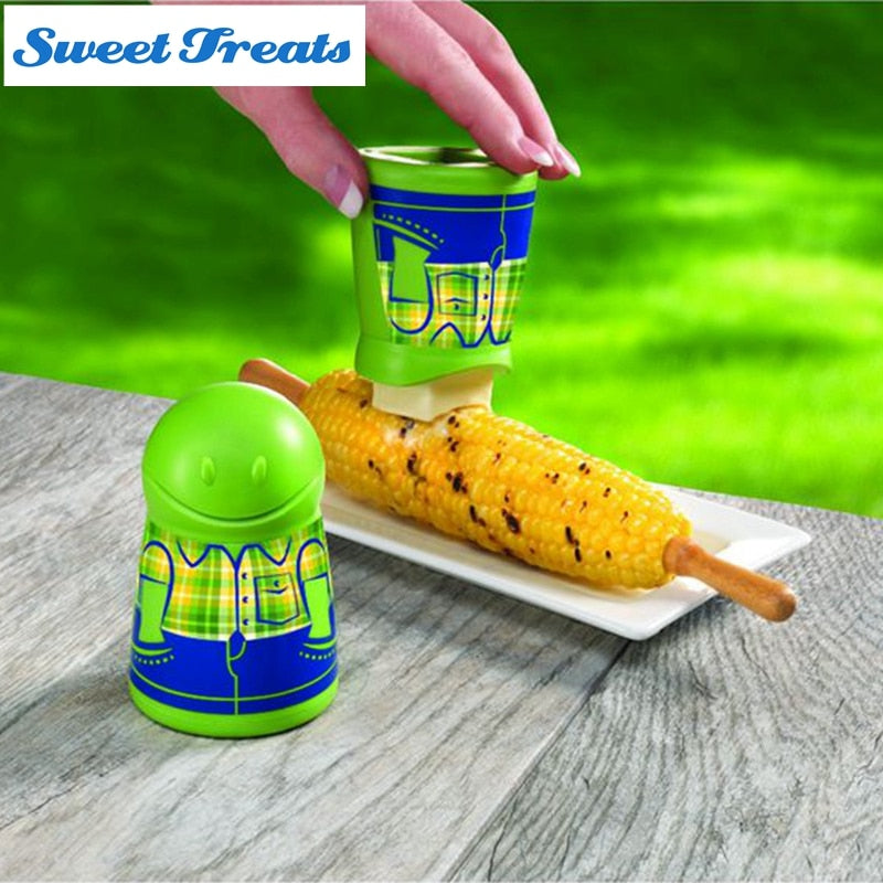 Sweettreats Butter Spreader makes buttering corn-on-the-cob easy and fun