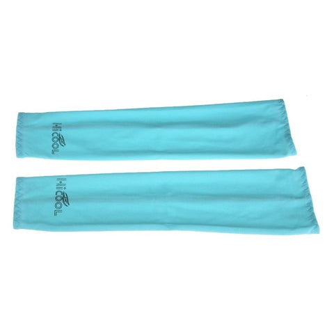 1 Pair Cooling Arm Sleeves Cover UV Sun Protection Golf Bike Outdoor Sports Riding Cycling Athletic Sport Protection Skins 370mm