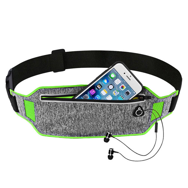Professional Running Waist Pouch Belt Sport Belt Mobile Phone Men Women With Hidden Pouch Gym Bags Running Belt Waist Pack