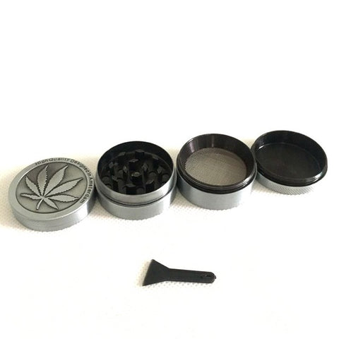 3 Layers Mental Herb Grinder Weed Bullet Shape Zinc Alloy Crusher Hand Muller for Smoke Tobacco Water Pipe Glass Shisha