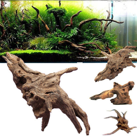 Natural Trees Trunk Plants Wood Driftwood Log Aquarium Fish Tank Decoration