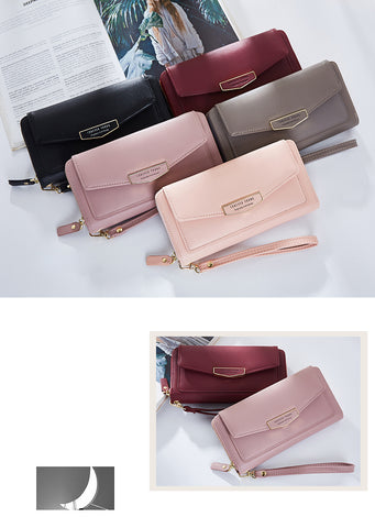 Large Capacity Women Wallets & Clutch Soft Leather Ladies Handbag