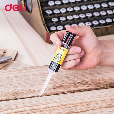 Deli 4ml quality liquid AB glue metal rubber waterproof strong adhesive glue