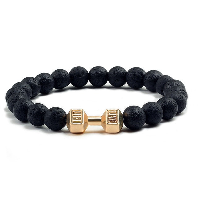Fitness Bracelets for Women Men Party Gifts Barbell Jewelry