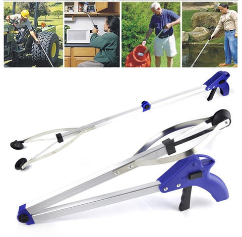 Foldable Pick Up Garbage Gripper Long Arm Helping Hand Gripping tool bending save Tongs picking rubbish
