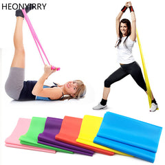 1.2m Elastic Yoga Pilates Rubber Stretch Exercise Band Arm Back Leg Fitness thickness 0.35mm resistance band Free Shipping