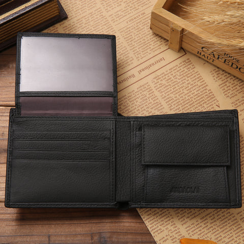 100% genuine leather mens wallet premium product real cowhide