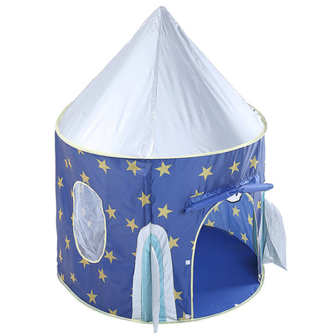 Play Tent Portable Foldable Rocket Castle Folding Prince Castle