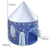 Image of Play Tent Portable Foldable Rocket Castle Folding Prince Castle