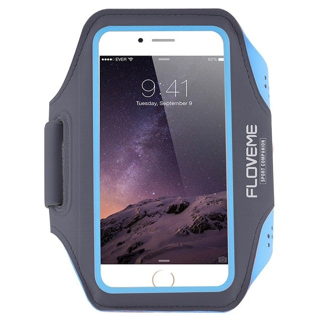 FLOVEME Waterproof Sport Arm Band For iPhone 6 6s 7 8 Plus Armband 5.5 Inch Universal Cover For Running GYM Mobile Phone Capinha