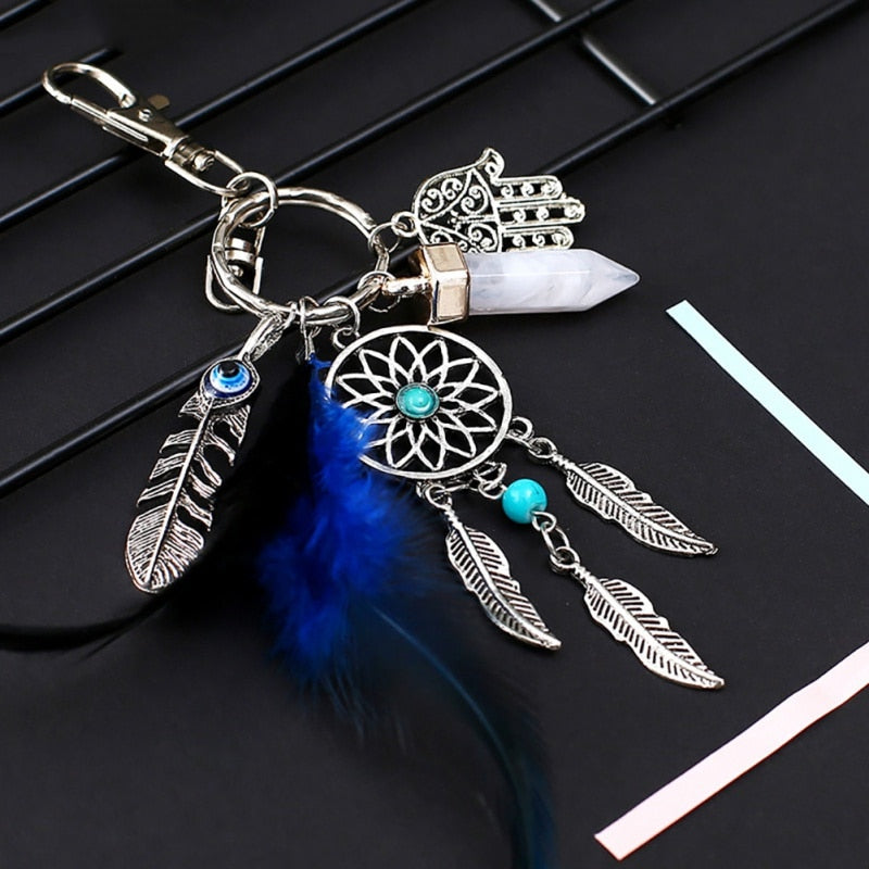 Handmade Dream Catcher Keychain Home Decor Gift Wind Chimes Car Pendant Wall Hanging Decoration Gift Room Decor