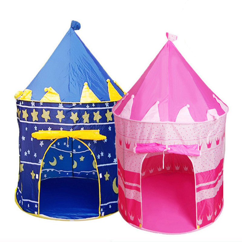2017New style Portable Blue/Pink Prince Foldable camping toy Tent Kids