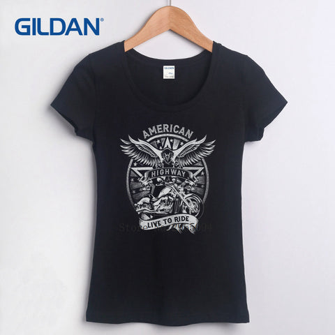 Great Tee Shirt for Women 2017 Grandpas Ride Motorcycles Biker