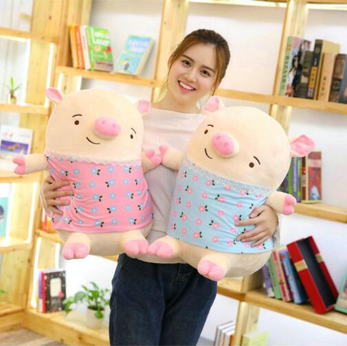 Cute Soft Pig Plush Doll Stuffed Pink Pig Doll Baby Software Pillow Gift for Girlfriend
