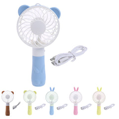 Portable Hand Fan Battery Operated USB Power Handheld Mini Fan Cooler with Strap