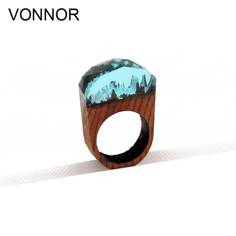 VONNOR Jewelry wood Ring for men and Women Fashion Resin Rings Casual Party Personalise Gift Ring Dropshipping