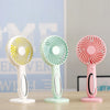 Image of Mini Fan Portable LED Light Fan Mini Desk USB Rechargeable Air Cooler 3-Speed Regulation Hand Held Cooling Fan