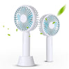 Image of Home Travel Use Mini Fans Portable USB Fan Rechargeable Handheld Desktop Fan 3 Speed Controlling Cooling Fan with Base