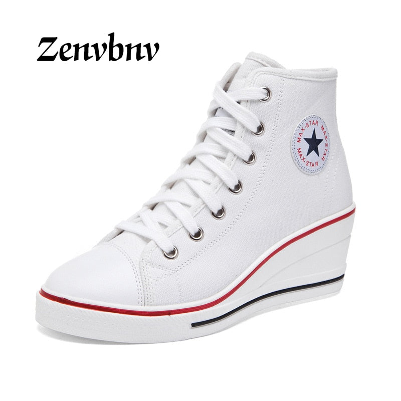 ZENVBNV Star Women Wedges Shoes