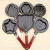 Image of Cute Shaped Egg Mould Pans Nonstick Stainless Mini Breakfast Egg Frying Pans Cooking Tools