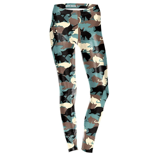 Yoga Pants Cat Camouflage Leggings