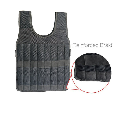 5kg 20kg 60kg Weighted Vest Adjustable Loading Weight Jacket Exercise Boxing Training Waistcoat Weightloading Vest(Empty)