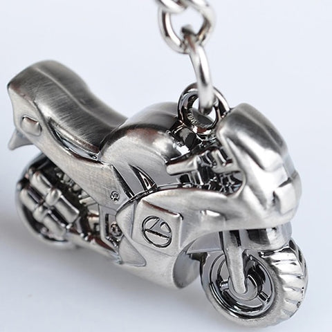 Metal Motorcycle Keychain