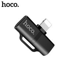 HOCO Audio Cable 2in1 Fast Charging Audio Converter Music Adapter for iPhone