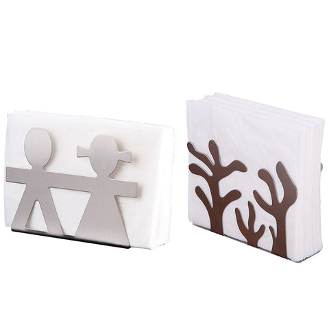 Metal Tree Pattern Napkin Holder Paper Dispenser Tissue Rack Home Party Dining Table Decor