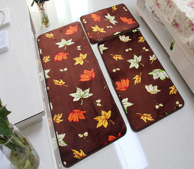 Water Absorption Bathroom Mat Coral Fleece Living Room