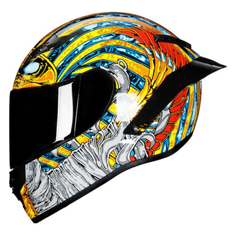 Full Face Carbon Fiber Motorcycle Helmet Professional Racing Helmet Kask DOT Rainbow Visor Motocross Off Road Touring