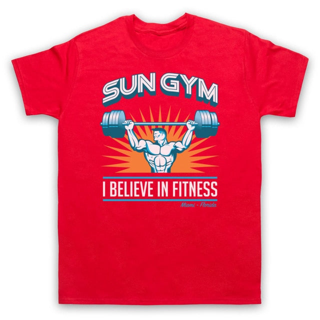 SUN GYM I BELIEVE IN FITNESS PAIN & GAIN MENS T-SHIRT LOTS OF COLS SIZES S - 5XL Cool Casual pride t shirt men Unisex New